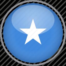 circle, country, flag, national, somalia icon