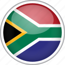 circle, country, flag, national, south africa icon