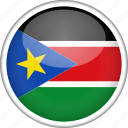 circle, country, flag, national, south sudan icon