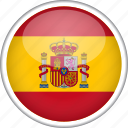 circle, country, flag, national, spain