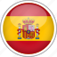 circle, country, flag, national, spain icon