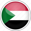 circle, country, flag, national, sudan icon