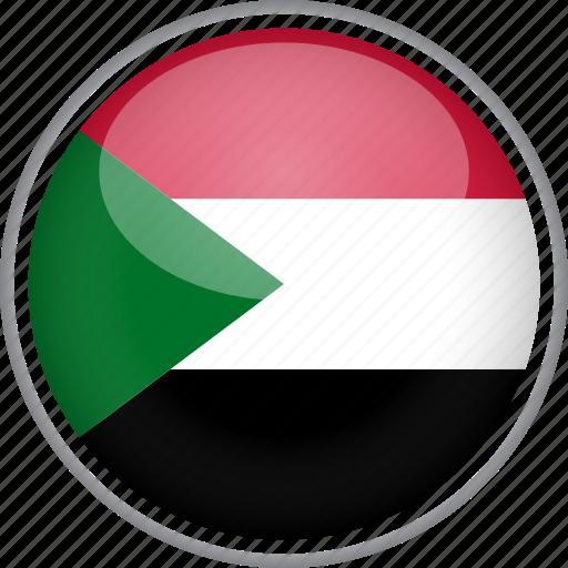 circle, country, flag, national, sudan icon