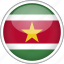 circle, country, flag, national, suriname icon
