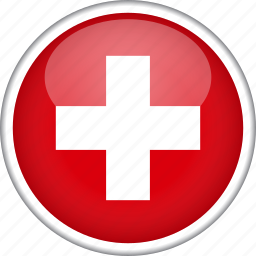circle, country, flag, national, switzerland icon