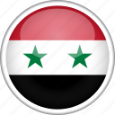 circle, country, flag, national, syria icon