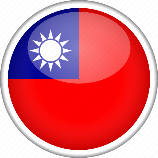 circle, country, flag, national, taiwan icon