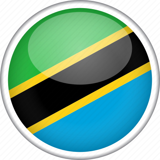 circle, country, flag, national, tanzania icon