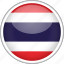 circle, country, flag, national, thailand icon