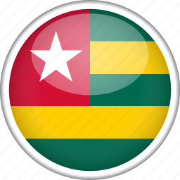 circle, country, flag, national, togo icon