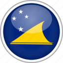 circle, country, flag, national, tokelau icon