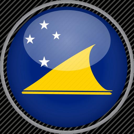 circle, country, flag, national, tokelau icon