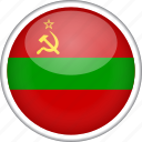 circle, country, flag, national, transnistria icon