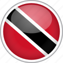 circle, country, flag, national, trinidad and tobago icon
