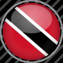 circle, country, flag, national, trinidad and tobago