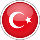 circle, country, flag, national, turkey icon