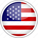 circle, country, flag, national, usa icon