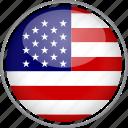 circle, country, flag, national, usa