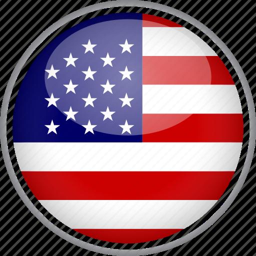 circle, country, flag, national, usa icon