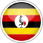 circle, country, flag, national, uganda icon