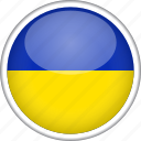 circle, country, flag, national, ukraine icon