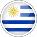 circle, country, flag, national, uruguay icon
