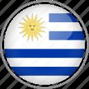 circle, country, flag, national, uruguay