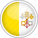 circle, country, flag, national, vatican icon