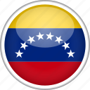 circle, country, flag, national, venezuela icon