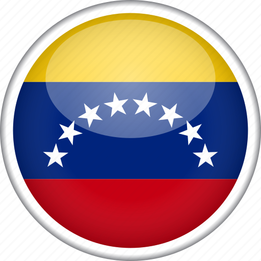 circle, country, flag, national, venezuela icon
