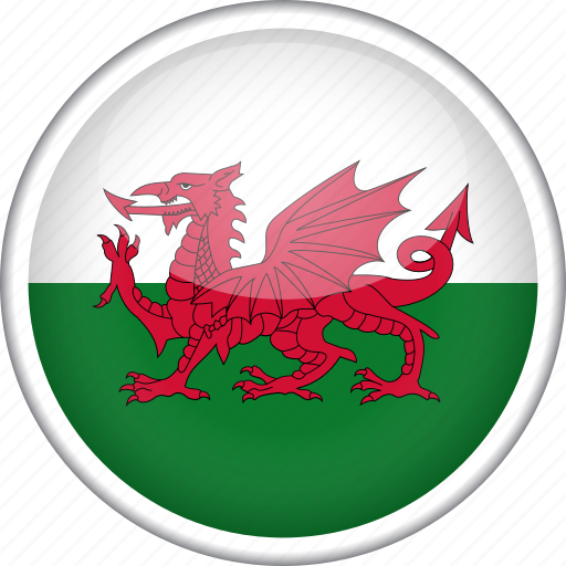 circle, country, flag, national, wales icon