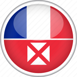 circle, country, flag, national, wallis and futuna icon