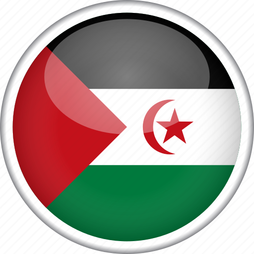 circle, country, flag, national, western sahara icon