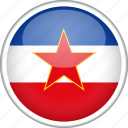 circle, country, flag, national, yugoslavia icon