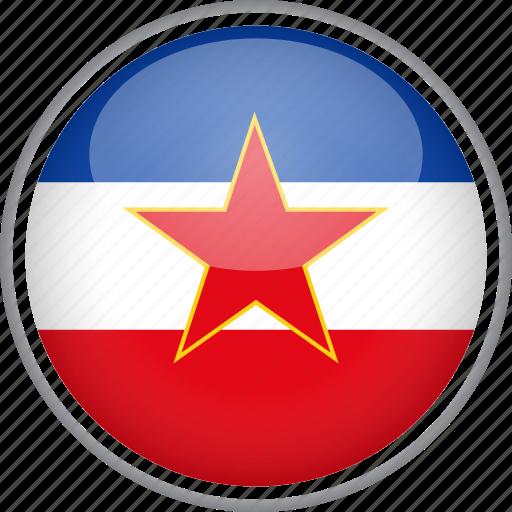 circle, country, flag, national, yugoslavia icon
