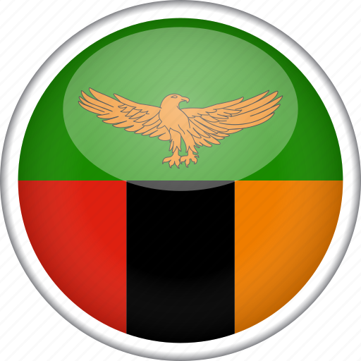 circle, country, flag, national, zambia icon
