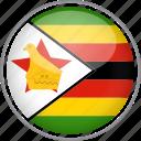 circle, country, flag, national, zimbabwe