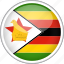 circle, country, flag, national, zimbabwe icon