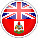 bermuda, circle, country, flag, national icon