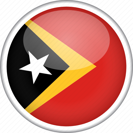 circle, country, east timor, flag, national icon