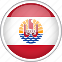 circle, country, flag, french polynesia, national icon