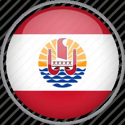 circle, country, flag, french polynesia, national icon