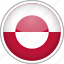 circle, country, flag, greenland, national icon