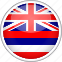 circle, country, flag, hawaii, national icon