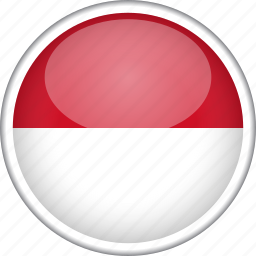 circle, country, flag, indonesia, national icon