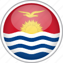 circle, country, flag, kiribati, national icon