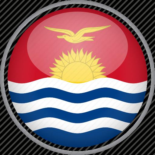 circle, country, flag, kiribati, national icon