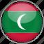 circle, country, flag, maldives, national icon