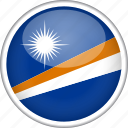 circle, country, flag, marshall islands, national icon