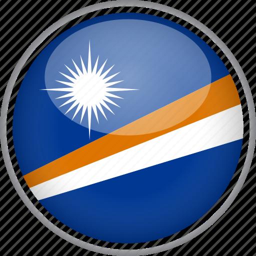 circle, country, flag, marshall islands, national icon